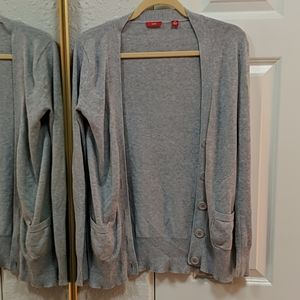 CeCe Sweater cotton Grey Cardigan